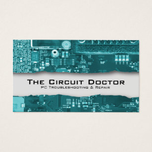 Electronic circuit business cards templates zazzle computer repair business card electronic circuits colourmoves