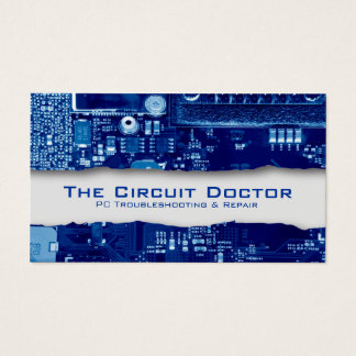Computer Repair Business Card Electronic Circuits