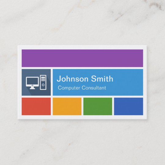 Computer repair creative modern metro style business card zazzle computer repair creative modern metro style business card colourmoves