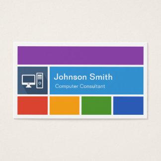 Computer Repair - Creative Modern Metro Style Business Card