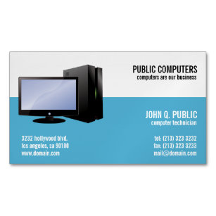 Pc repair business cards zazzle computer repair magnetic business cards friedricerecipe Gallery