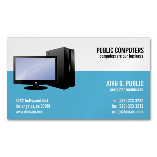 Computer repair magnetic business cards zazzle computer repair magnetic business cards colourmoves