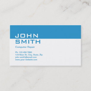 Computer repair business cards zazzle computer repair modern professional plain simple business card colourmoves