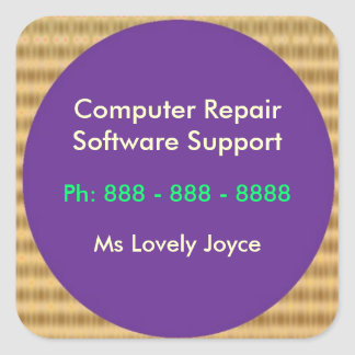 Computer Repair n Software Support Square Sticker