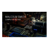Computer Repair PC Motherboard Circuits Double-Sided Standard Business Cards (Pack Of 100)