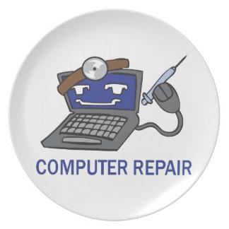 COMPUTER REPAIR DINNER PLATE