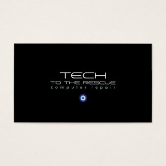 Computer Repair Technician Black PC Business Card