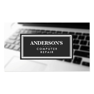 Computer Repair Technician Keyboard Blurred Double-Sided Standard Business Cards (Pack Of 100)