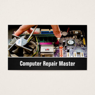 Computer Repair Technician PC Motherboard Photo Business Card