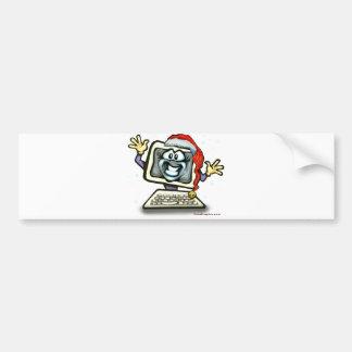 Computer Santa Bumper Sticker