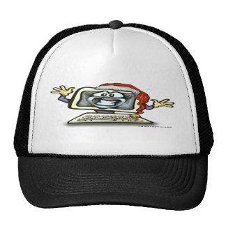 Computer Santa Trucker Hat