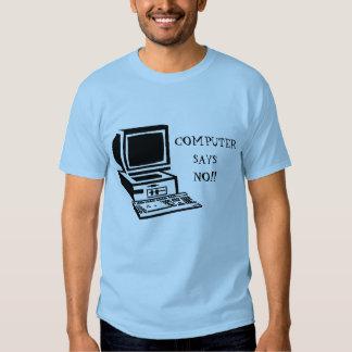 computer says no little britain t shirt
