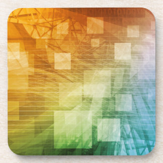 Computer Science as a Abstract Background Art Beverage Coaster