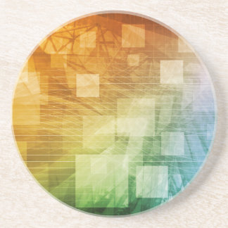 Computer Science as a Abstract Background Art Coaster