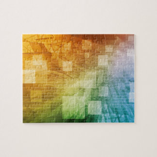 Computer Science as a Abstract Background Art Jigsaw Puzzle