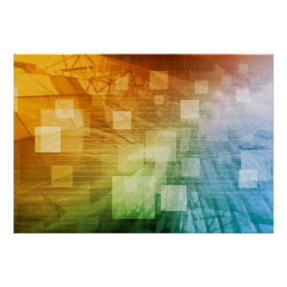 Computer Science as a Abstract Background Art Poster
