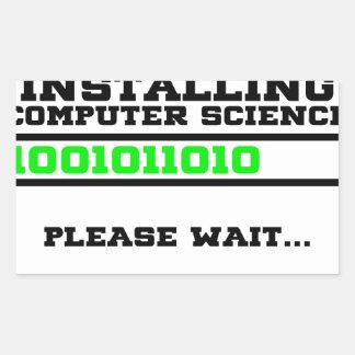 computer science degree rectangular sticker