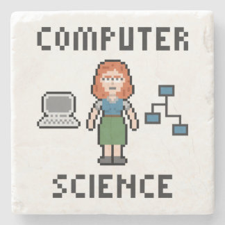 Computer Science Marble Stone Coaster