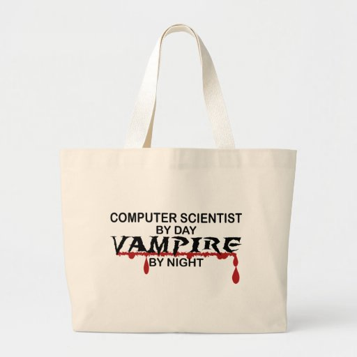 Computer Scientist by Day, Vampire by Night Jumbo Tote Bag