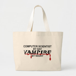 Computer Scientist by Day, Vampire by Night Large Tote Bag