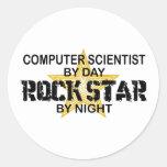 Computer Scientist Rock Star Classic Round Sticker