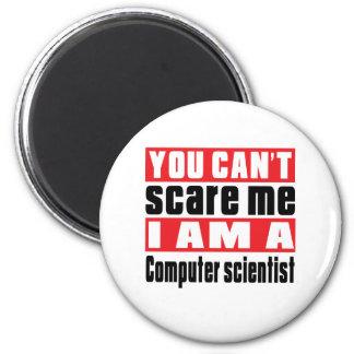 Computer scientist scare designs 2 inch round magnet