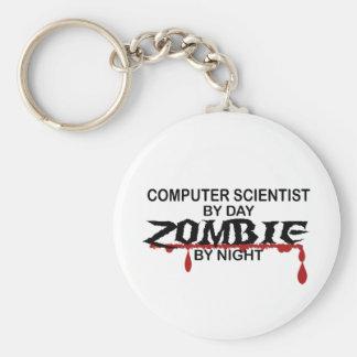 Computer Scientist Zombie Keychain