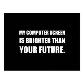 Computer Screen Brighter Than Future Postcard