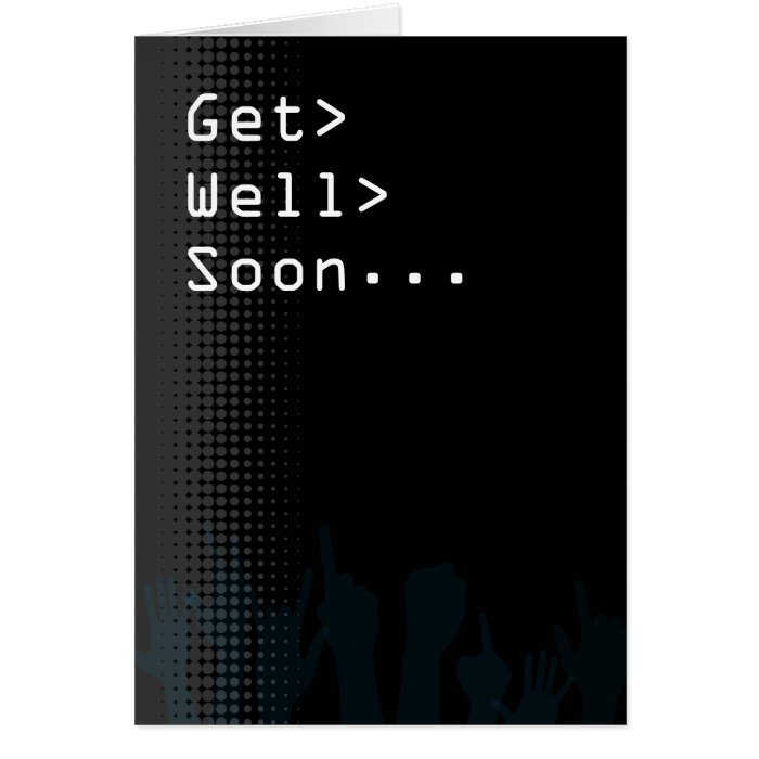 Computer screen Party themed Get Well Soon Card