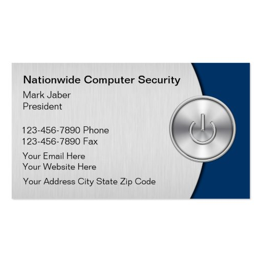 Computer security business cards zazzle for Cctv business card