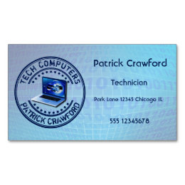 Store business cards on computer image collections business card computer shop business cards templates zazzle computer service repair technician or pc shop business card magnet reheart Image collections