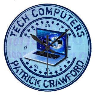Computer Service Repair Technician Or PC Shop Large Clock