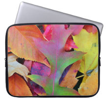 Computer sleeve - Colorful Fall Leaves Design