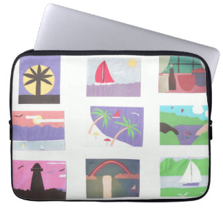 Computer Sleeve with Beach/Nature Scenes
