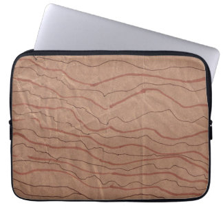 Computer Sleeve with Brown Marbled Design
