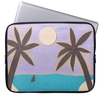 Computer Sleeve with Palm Beach Scene