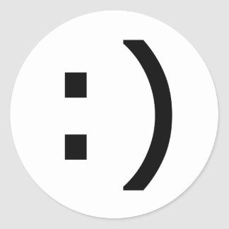 Computer Smiley Classic Round Sticker