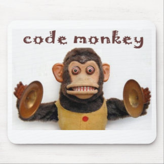 Computer Software Code Monkey Mouse Pad