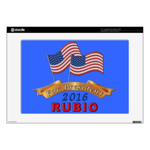 Computer Stickers for Laptops Marco Rubio 2016 Skin For Laptop