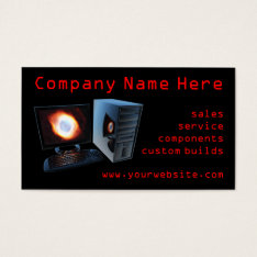 Computer Store Business Cards at Zazzle