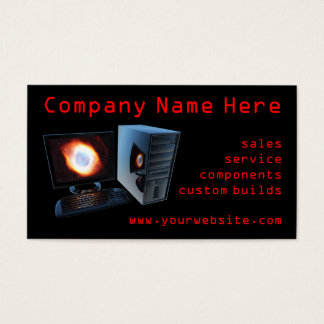 Computer store business cards
