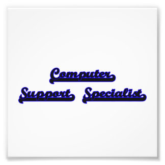 Computer Support Specialist Classic Job Design Photo Print