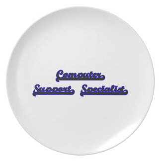 Computer Support Specialist Classic Job Design Dinner Plate