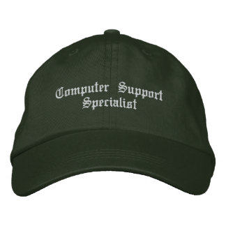Computer support specialist embroidered baseball cap