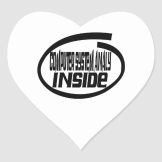 Computer system analy Inside Heart Sticker