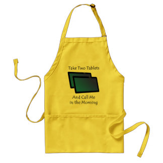 Computer tablets - Take Two Adult Apron