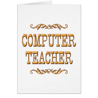 Computer Teacher Card