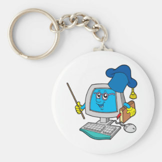 Computer teacher keychain