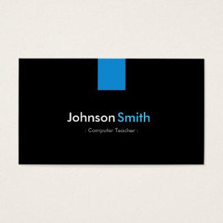 Computer Teacher Modern Aqua Blue Business Card