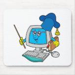 Computer teacher mouse pad